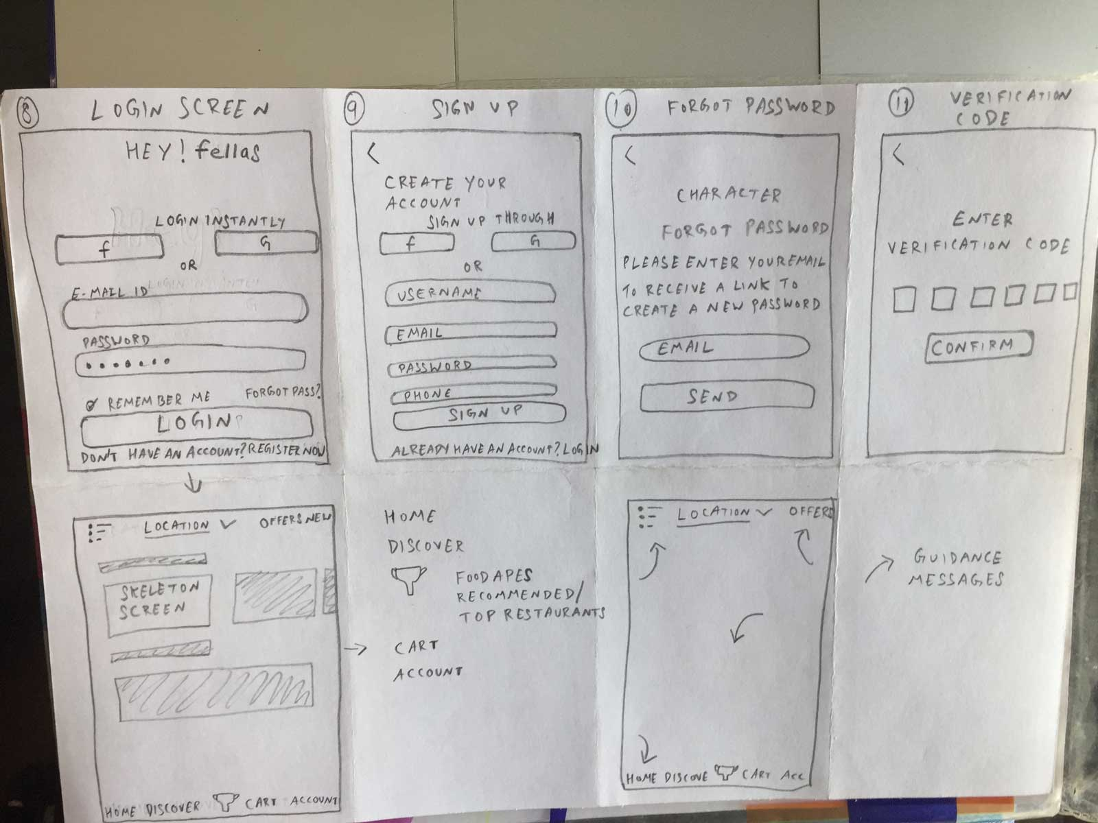Foodapes App Sketches 02