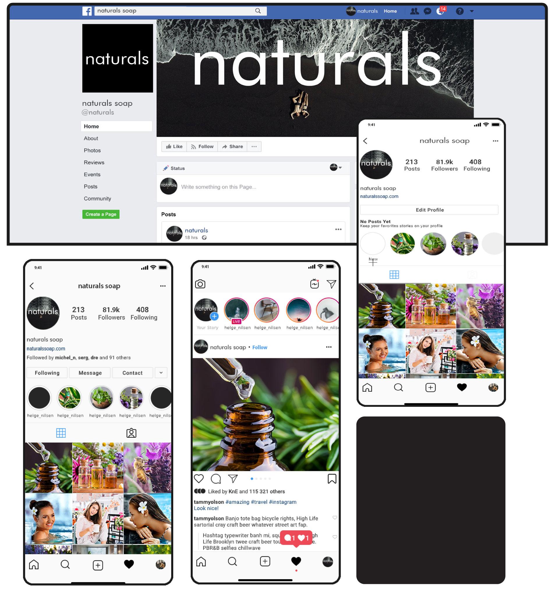 Naturals Soap Facebook