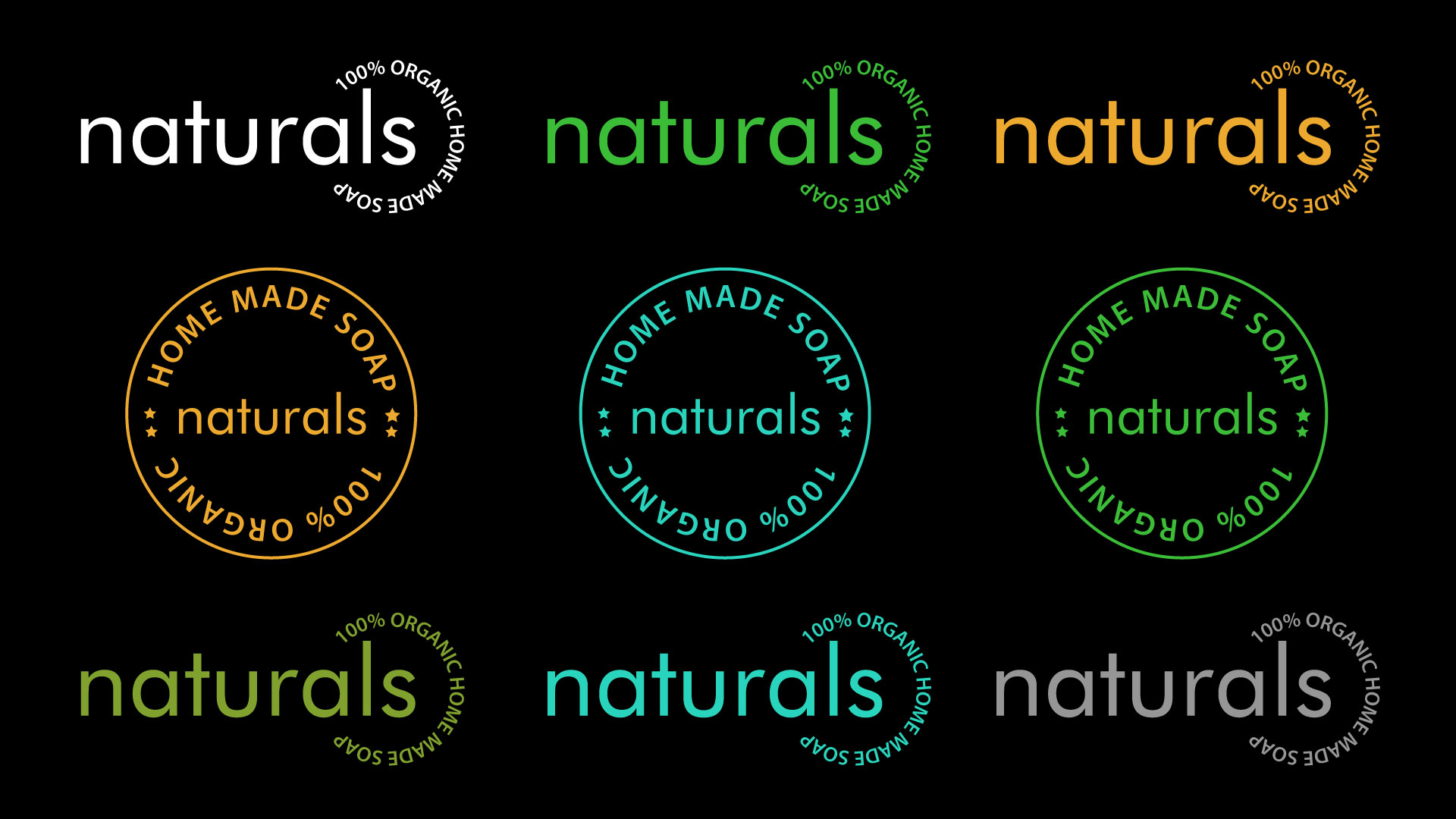 Naturals Soap Logo Stamp
