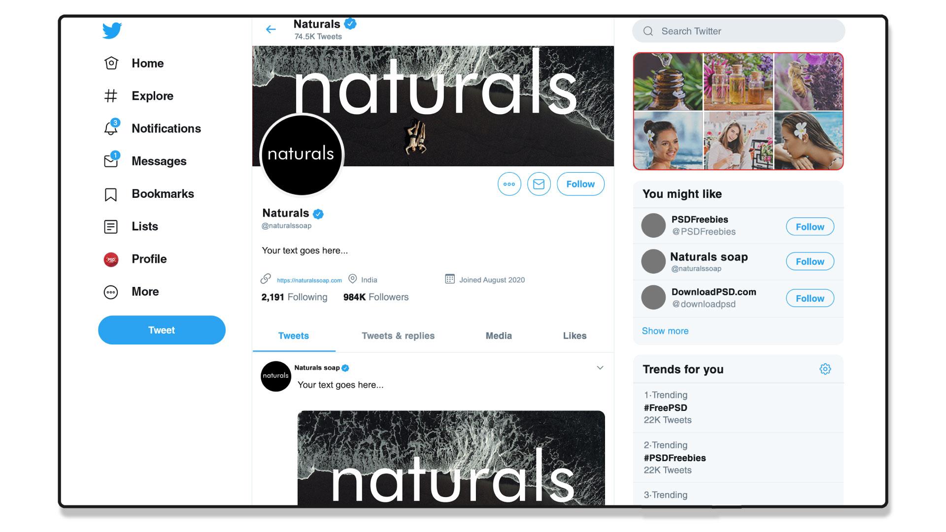 Naturals Soap Twitter