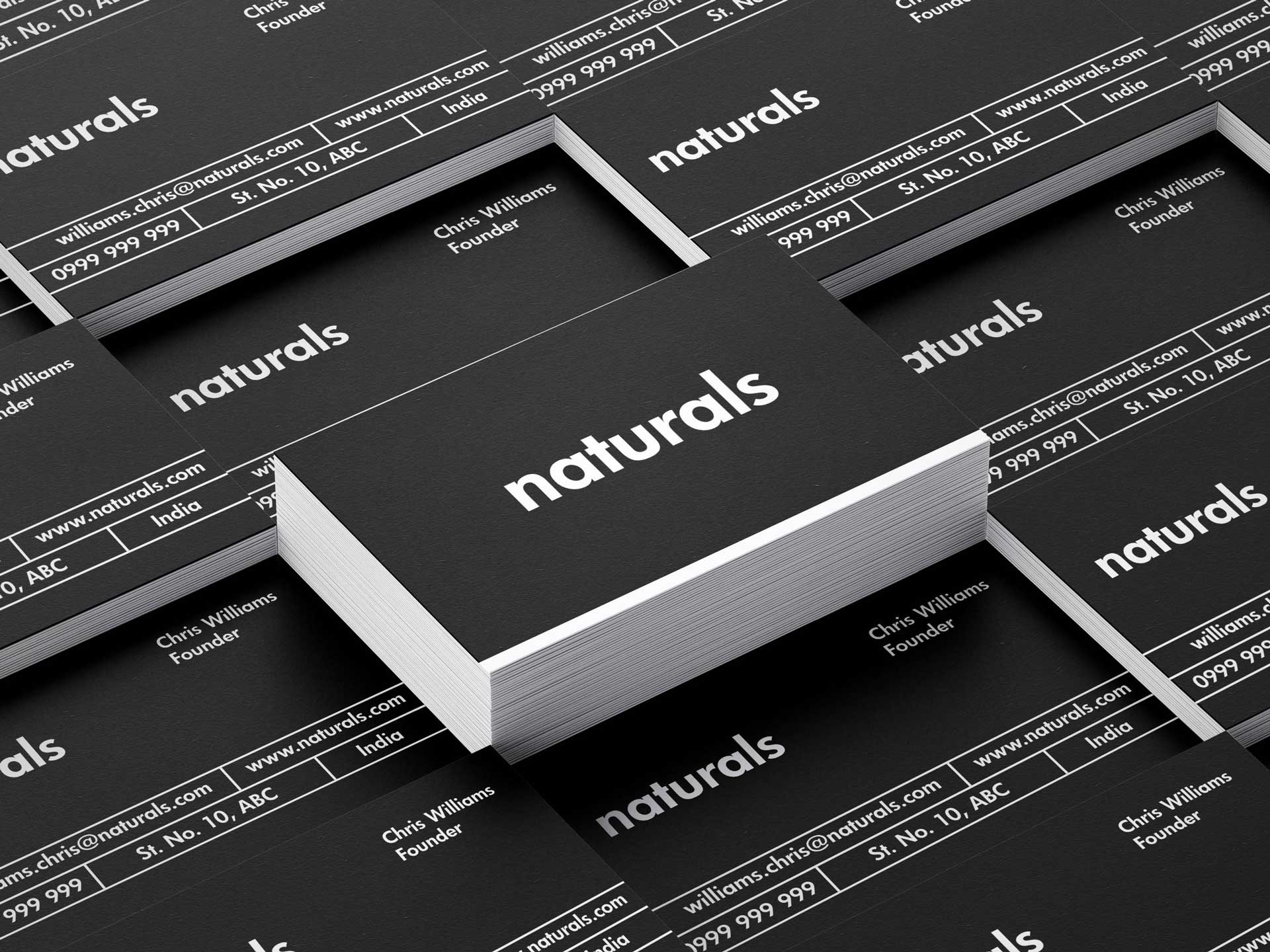 Naturals Soap Visiting Card Deck