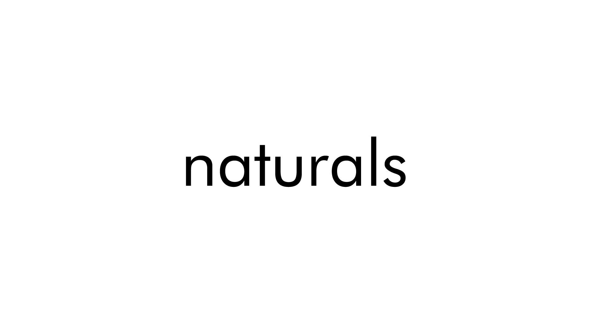 Naturals Soap White Logo