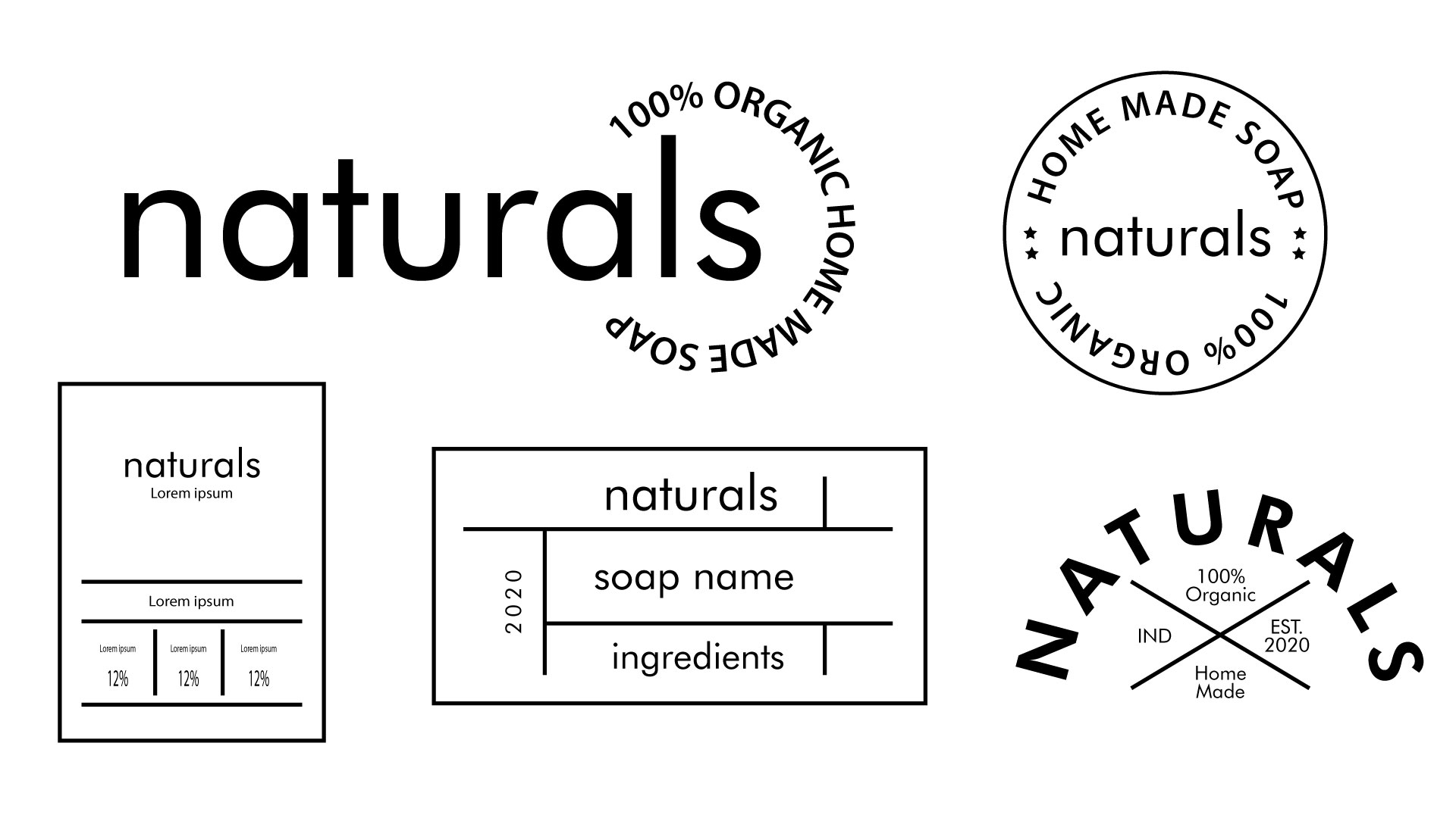Natural Soap Packaging Elements