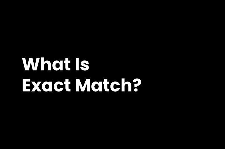 exact match in ppc